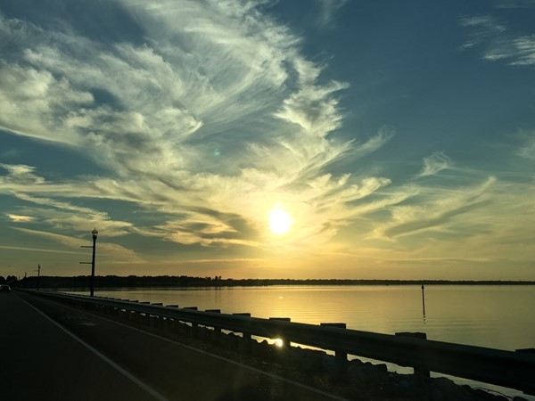 Beautiful sunset on the Rez. View from Northshore Parkway