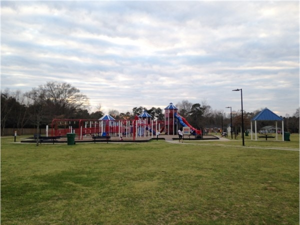 Relay Park offers an elaborate playground, picnic areas, soccer fields, a pavilion and more