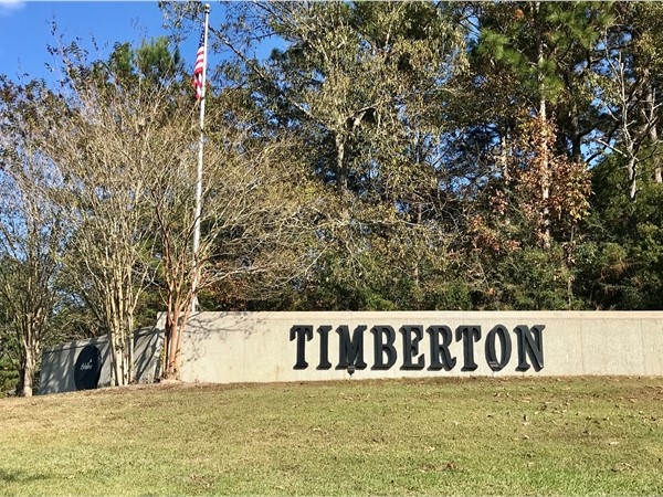 Timberton Subdivision located in Southwest Hattiesburg