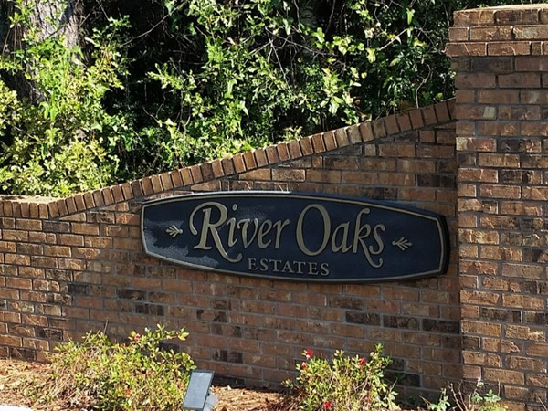 River Oaks Estates has gorgeous homes on large lots. Many have beautiful waterviews