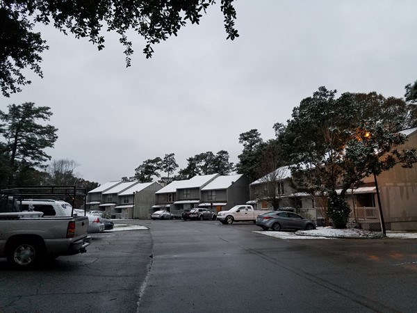 Diamondhead Highpoint Townhouses are wrapped in snow