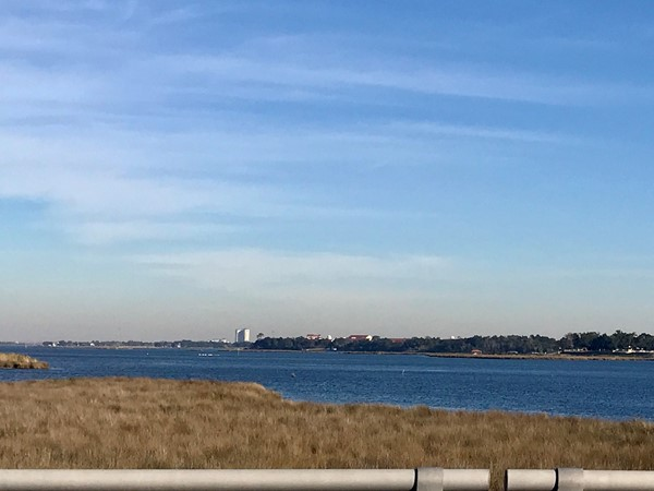 Back Bay of Biloxi looking towards Keesler Air Force Base