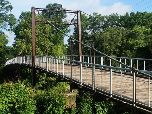 Come and visit the historic Swinging Bridge that crosses the Pearl River in Byram