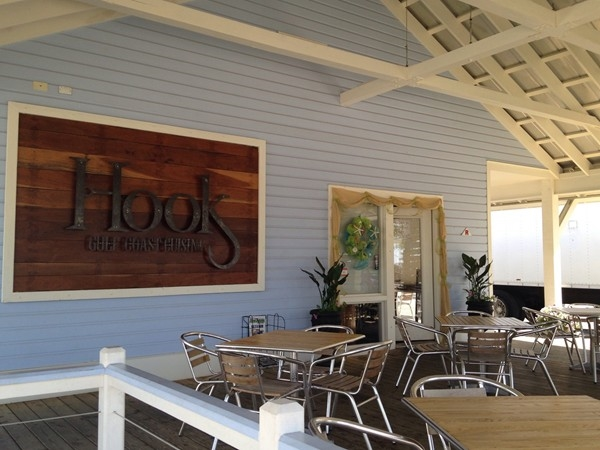 Have a fabulous meal indoors or on the great patio outside at Hooks.