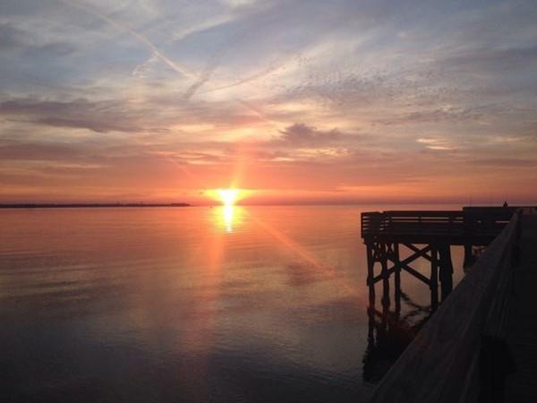 Beautiful sunrise over the Bay