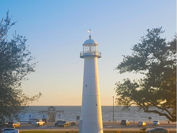 The Biloxi Lighthouse is the only lighthouse in the middle of a 4-lane highway