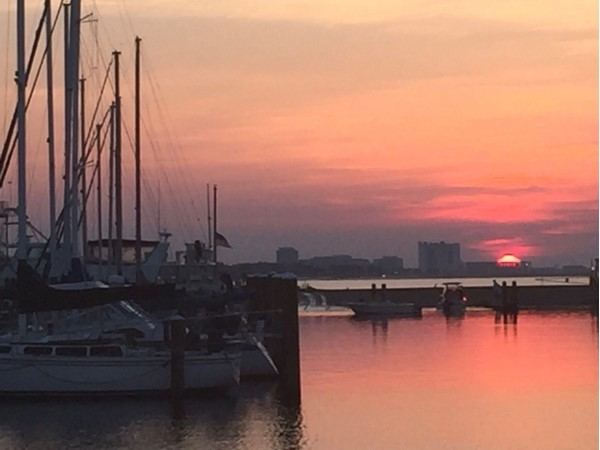 Beautiful sunset in Gulfport