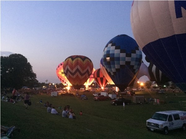Beautiful glowing balloons
