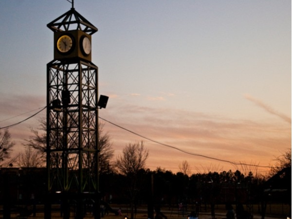 Beautiful sunset at Winner Circle Park in Flowood!