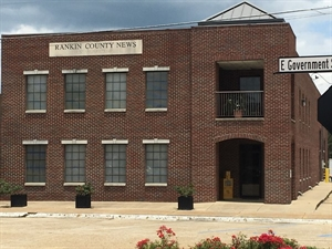 The lovely Rankin County News building in Downtown Brandon