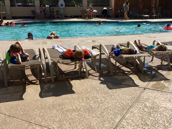 Poolside at the Hollywood Casino Resort