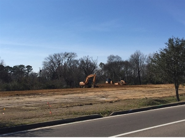 Ground-breaking begins for the new Cracker Barrel in Columbus.