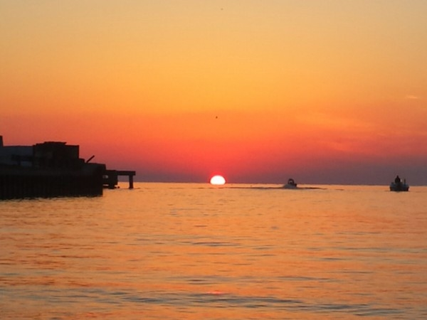 Mississippi Gulf sunrise on the water