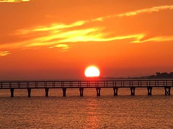 Beautiful sunset on the Mississippi Gulf Coast