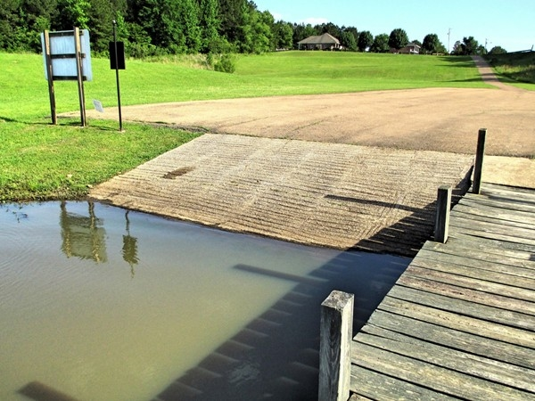 Ramp and dock for the private lake in North Brandon Shores