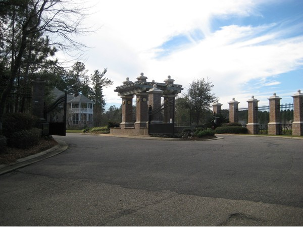 Waterford Subdivision in Hattiesburg offers a gated entrance. The in-town location is fantastic