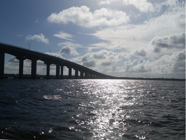 Gone fishing - the beautiful Bay & Bay bridge connects Bay St. Louis and Pass Christian, MS