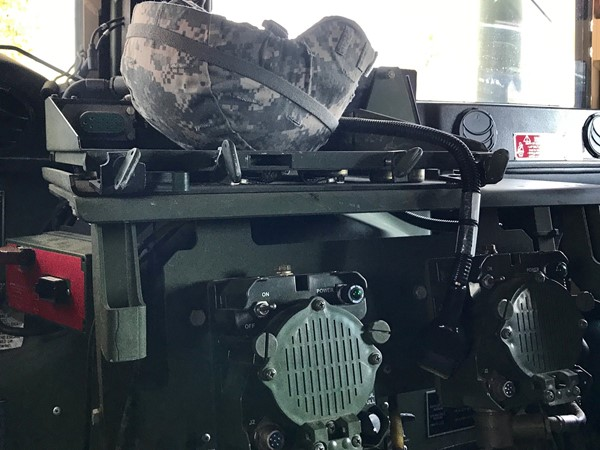 Inside a Mississippi National Guard Humvee