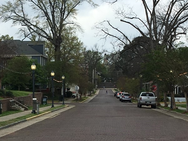 The view down historic Jefferson Street is almost 200 years old and beautiful everyday