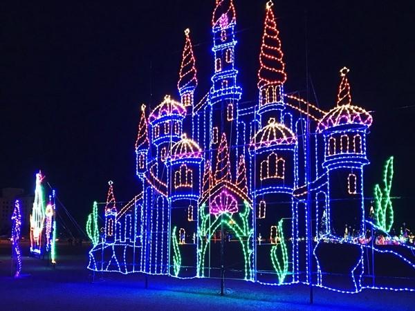 A spectacular Christmas display at Jones Park