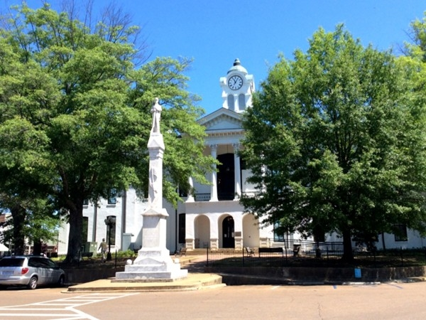 Southside view of the Oxford courthouse