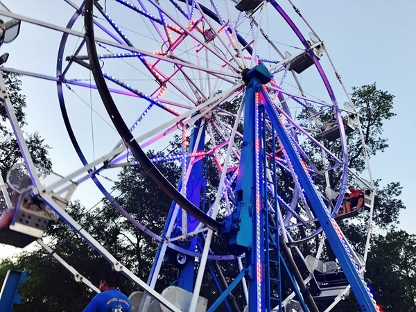 Ferris wheel at the Dedeaux Bazaar in northern Pass Christian