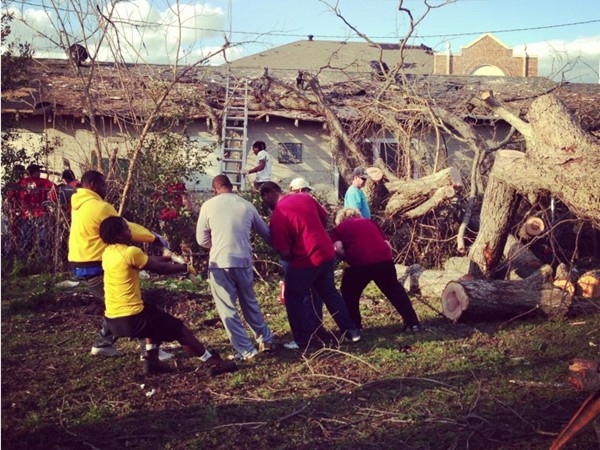Community coming together to help with tornado disaster relief