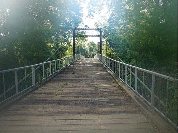 Historic Swinging Bridge of Byram links Hinds and Rankin counties together over the Pearl River
