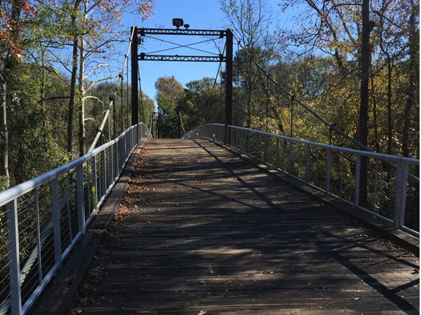 Swinging bridge near Byram