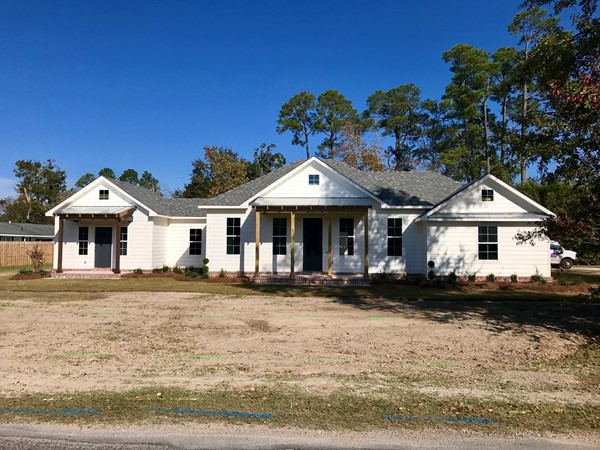 New farmhouse style construction in established neighborhoods deep in Gulfport