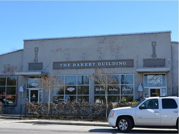 Shop, dine, or host an event at the Bakery Building, home to The Depot Bistro, Blooms, & The Venue.