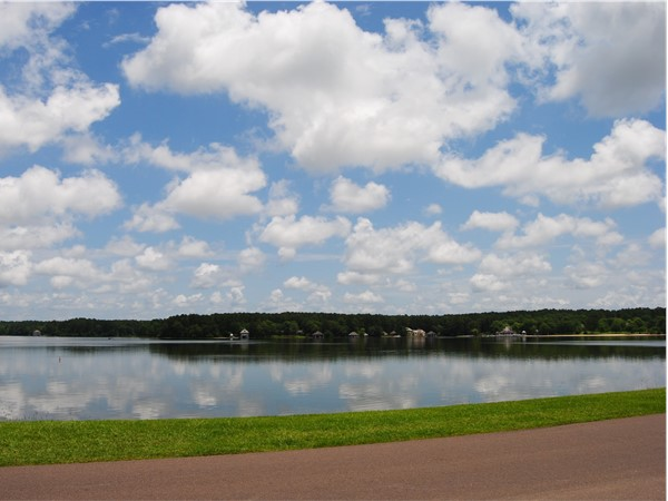 Cakebrake's 250 acre lake! It is great for fishing, tubing, skiing, or just relaxing