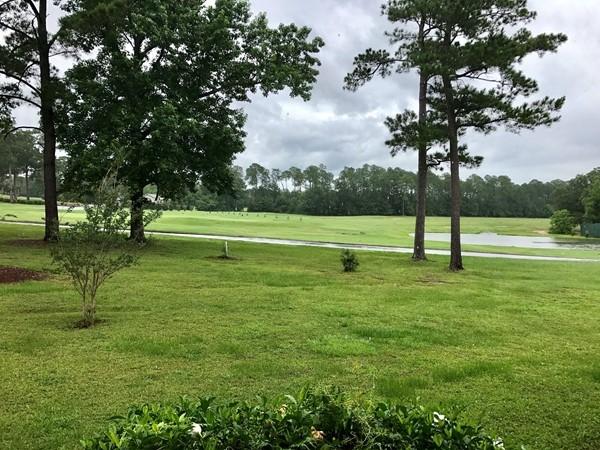 Rainy golf course day in Diamondhead