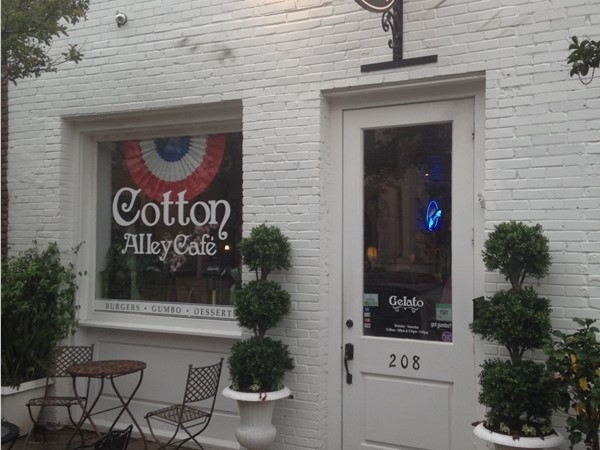 Cotton Alley Cafe. Known for their homemade dessert and great daily specials