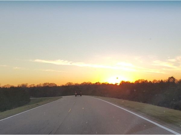 Sunset on the Natchez Trace, between Ridgeland and Clinton