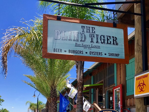 The Blind Tiger on beautiful Bay Saint Louis