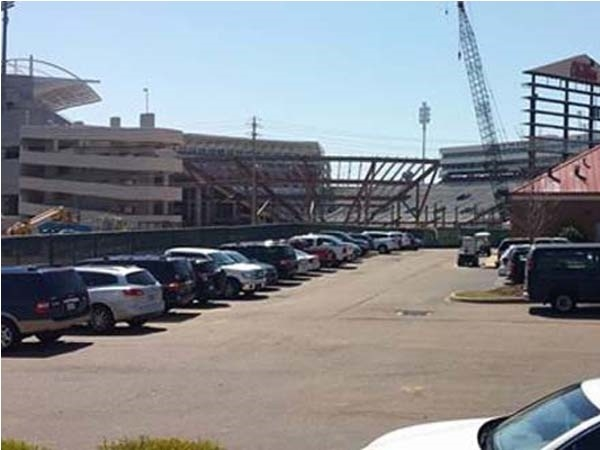 Construction continues on Vaught Hemingway Stadium. The new Bowl will be ready by September