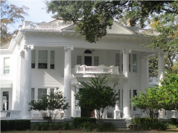 Hazlehurst is adorned with Magnolia lined streets with beautiful historic homes such as this