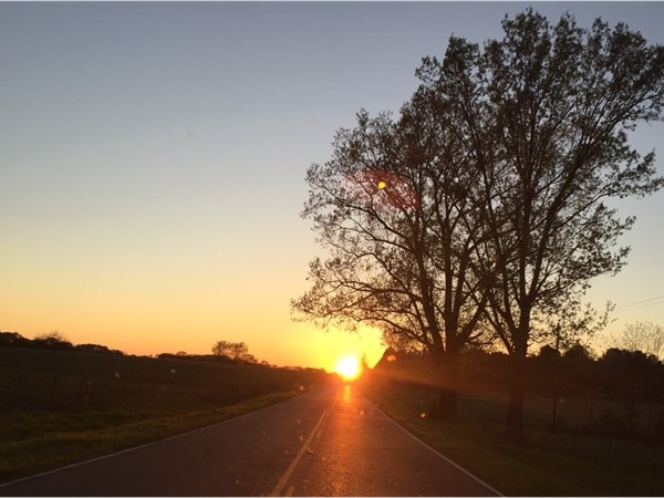 Beautiful sunsets abound in the beautiful outskirts of Flora
