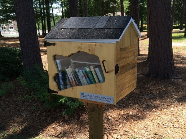 New Little Free Library on the Merit Health Wesley walking trail! Kids and adult books available