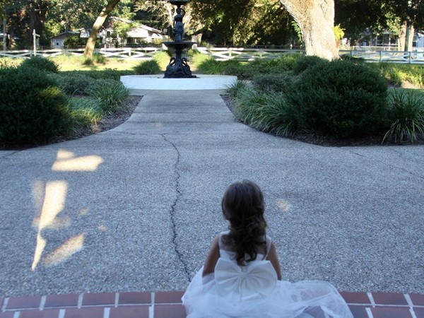 Oak Crest Mansion - The beginning of so much - one of many flower girls to visit the mansion