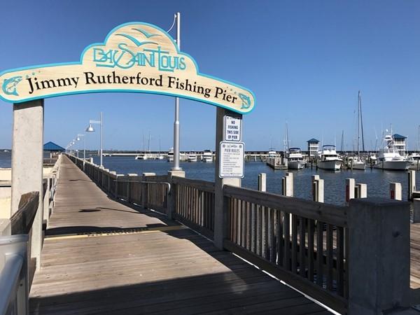 The pier at Bay Marina