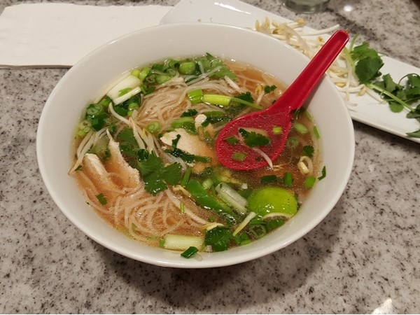 Delicious Pho at Chopstx Bar in the new Scarlett Pearl Casino