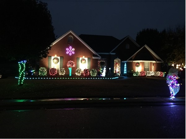 Beautiful Christmas lights on a home in Avalon subdivision