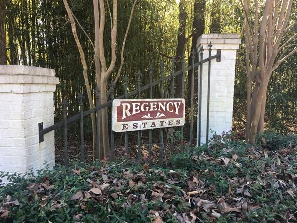 Entrance of Regency Estates