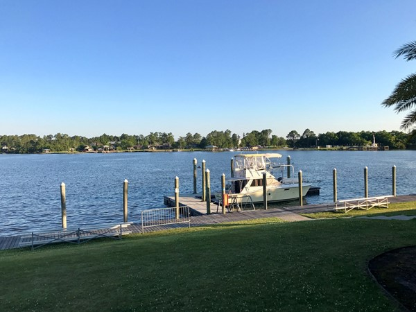 The view of Gulfport Lake from The Dock Bar and Grill