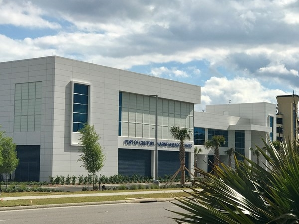 The newly finished Marine Research Lab at the Port of Gulfport