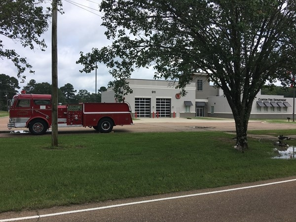 Clinton' first firetruck on display today outside of station #2