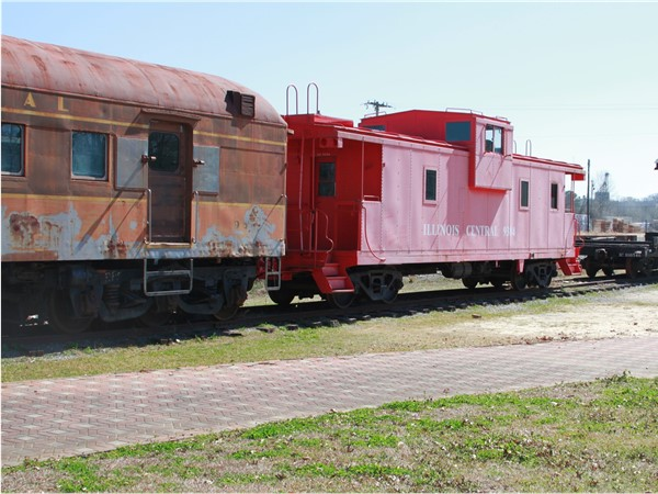 Enjoy some history of Downtown McComb at the Train Depot! You can also look at the old trains