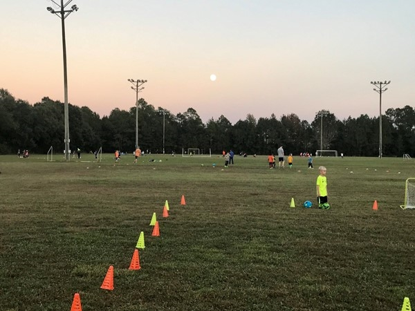 Full moon over the Espy Soccer Fields